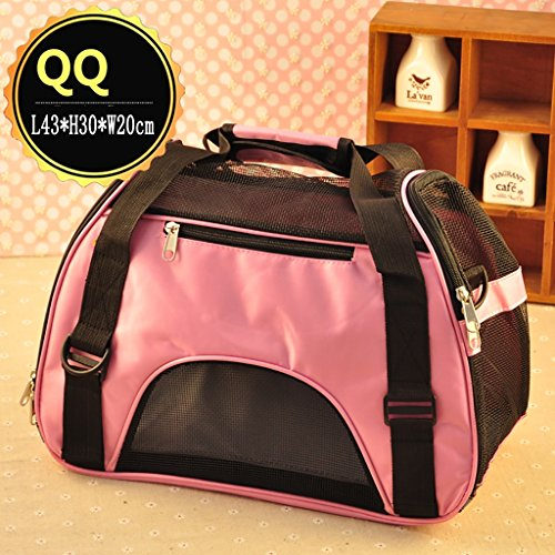Cart H30 (Pet Supplies YXGH Pet Package Out Carrying case pet Dogs and Cats and Other Pets Teddy Travel Bags (L43 H30 W20cm) Travel Goods Gear (Color : Pink))