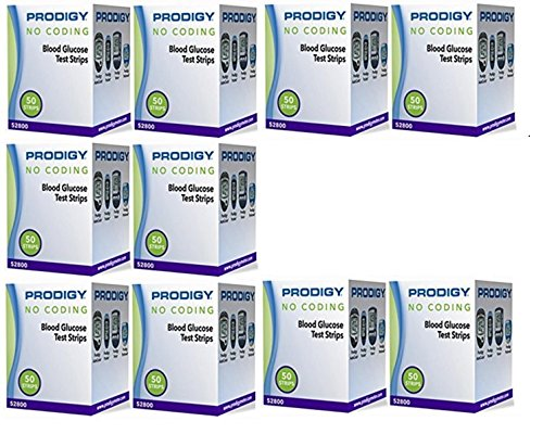 Prodigy No Coding Blood Glucose Test Strips 500 Count by Prodigy No Code