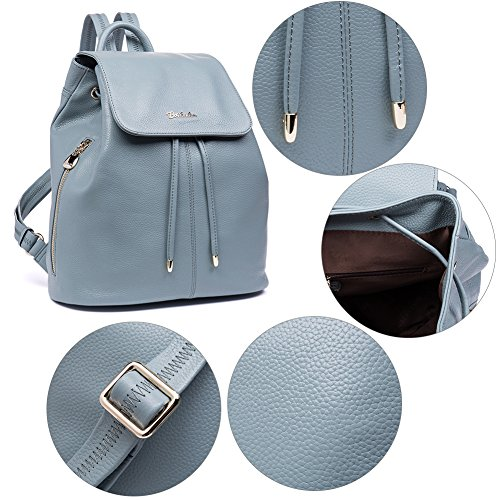School Backpack College Purse Leather Handbags Women BOSTANTEN Rucksack Newblue Newblue Bag Ladies Casual Shoulder EYqnfxw