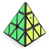 Coogam Qiyi Qiming Pyraminx Speed Cube Pyramid Black Triangle Magic Cube Puzzle Toys Gift for Kids