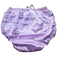 Haian ABDL PVC & Satin Panties Frilly Rumba Pants Color Purple (Small)