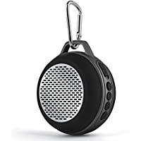 SOMHO SoundCore mini 5W Bluetooth Speakers FM Radio Mp3 Player,Super-portable Wireless Speaker with Mic,Hands-Free Speakerphone,Micro TF SD Card,3.5 mm AUX Line In-Black