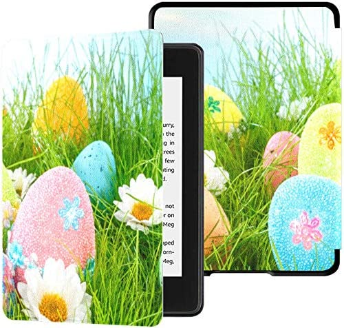 Estuche de 10 Gen Kindle Paperwhite Decorado Huevos de Pascua Estuche Hierba en Azul Estuche para Kindle Paperwhite Estuche de 10a generación con Auto Wake/Sleep Estuche de Tapa Kindle Pap: Amazon.es: Electrónica