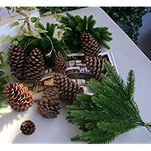 1Pack Artificial Flower Fake Plants Pine Branches Christmas Tree Party Decorations Xmas Tree Ornaments Kids Gift 80