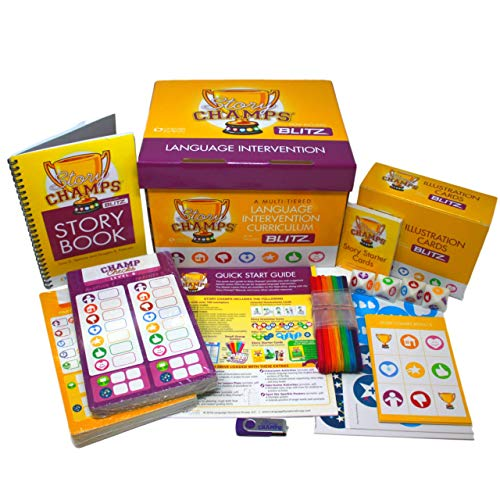Story Champs 2.0- Materials for Speech, Writing Development, Reading Comprehension, Language Assessment- Intervention for Toddler, School Age, ESL, Special Education- With Curriculum Workbook, Games, Strategies Toolkit