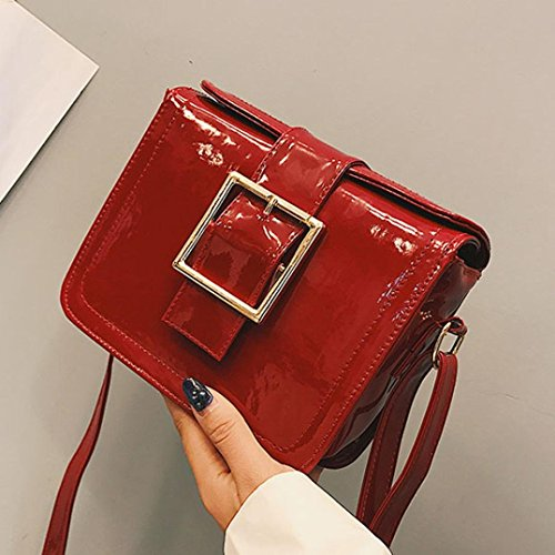 Red For Bag Women's Leather Fashion Handbags Broadband Holiday Soft Shoulder Shoulder Nice Flap Crossbody Party Bag Bags Small Patent Bags Cross Her Women's Body z8HgIwqg