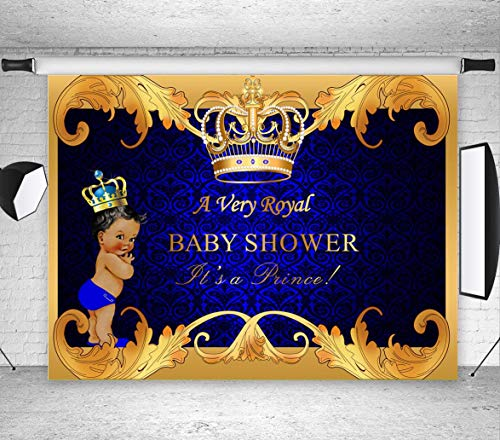 Art Studio 7x5ft Royal Prince Photography Backdrops Crown Photo Background Studio Props Child Birthday Party Decoration Supplies Welcome Little Boy Photo Booth Baby Shower Vinyl -