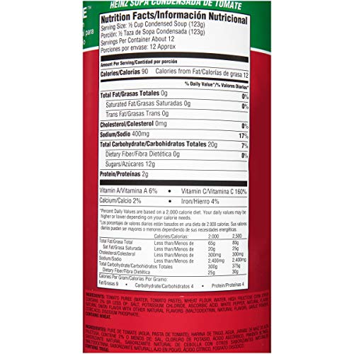 Amazon.com : Heinz Condensed Tomato Soup, Cans, 51 Ounce : Grocery & Gourmet Food