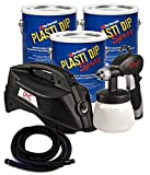 Bundle - 4 Pieces - Plasti Dip 3 Gallon Basic Car Kit - Red (No California)