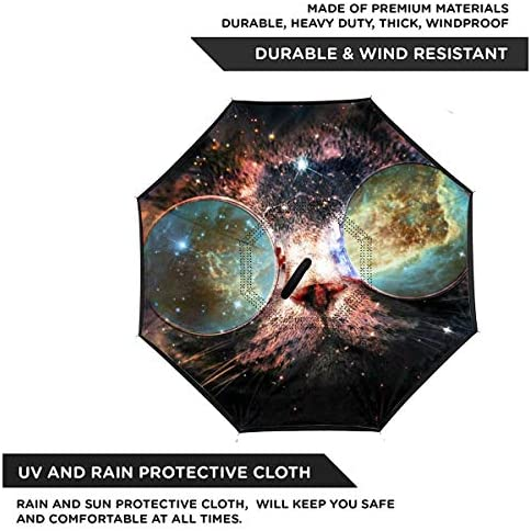 スペースキャッツ 逆さ傘 逆折り式傘 車用傘 耐風 撥水 遮光遮熱 大きい 手離れC型手元 梅雨 紫外線対策 晴雨兼用 ビジネス用 車用 UVカット