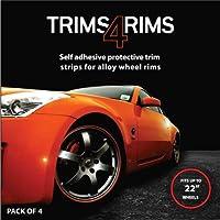 Negro Trims4Rims by rimblades-alloy Wheel Rim Protectores/Recorta/Guardias