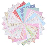Benvo 144 Sheets Origami Paper Set Craft Folding Paper Japanese Washi Folding Paper for Arts and Crafts- 24 Different Patterns Single Side, 6 by 6 inch Square Sheets