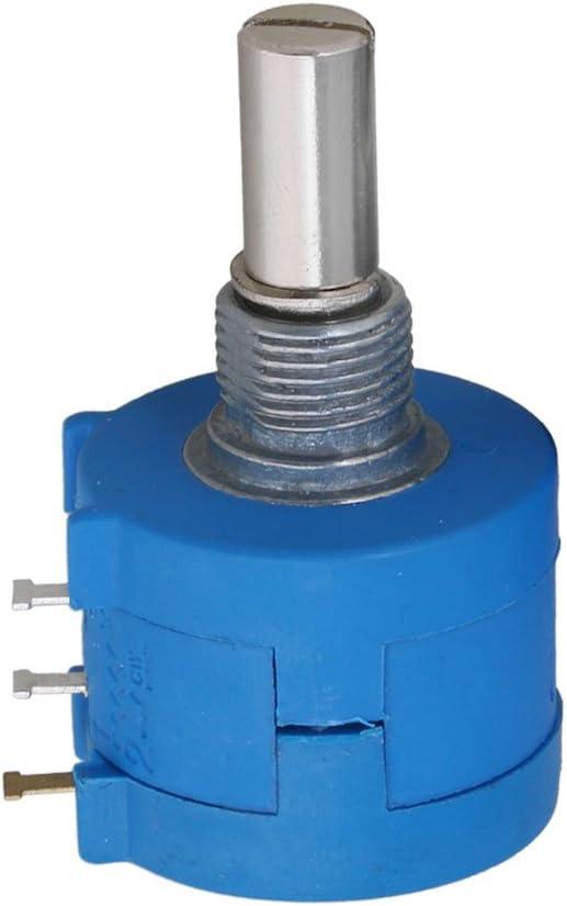 cnbtr 1/K Ohm 10-Turn Rotary alambre herida potenci/ómetros Precision Pot Set de 2