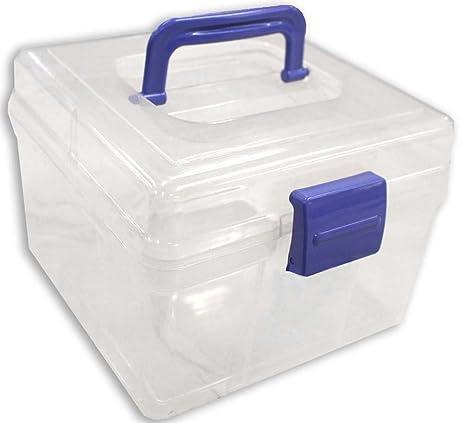 VAS HOBBY STORAGE BOX- COMPACT SEMI CLEAR PLASTIC STACKABLE TOP HANDLE u0026  sc 1 st  Amazon.com & Amazon.com : VAS HOBBY STORAGE BOX- COMPACT SEMI CLEAR PLASTIC ...