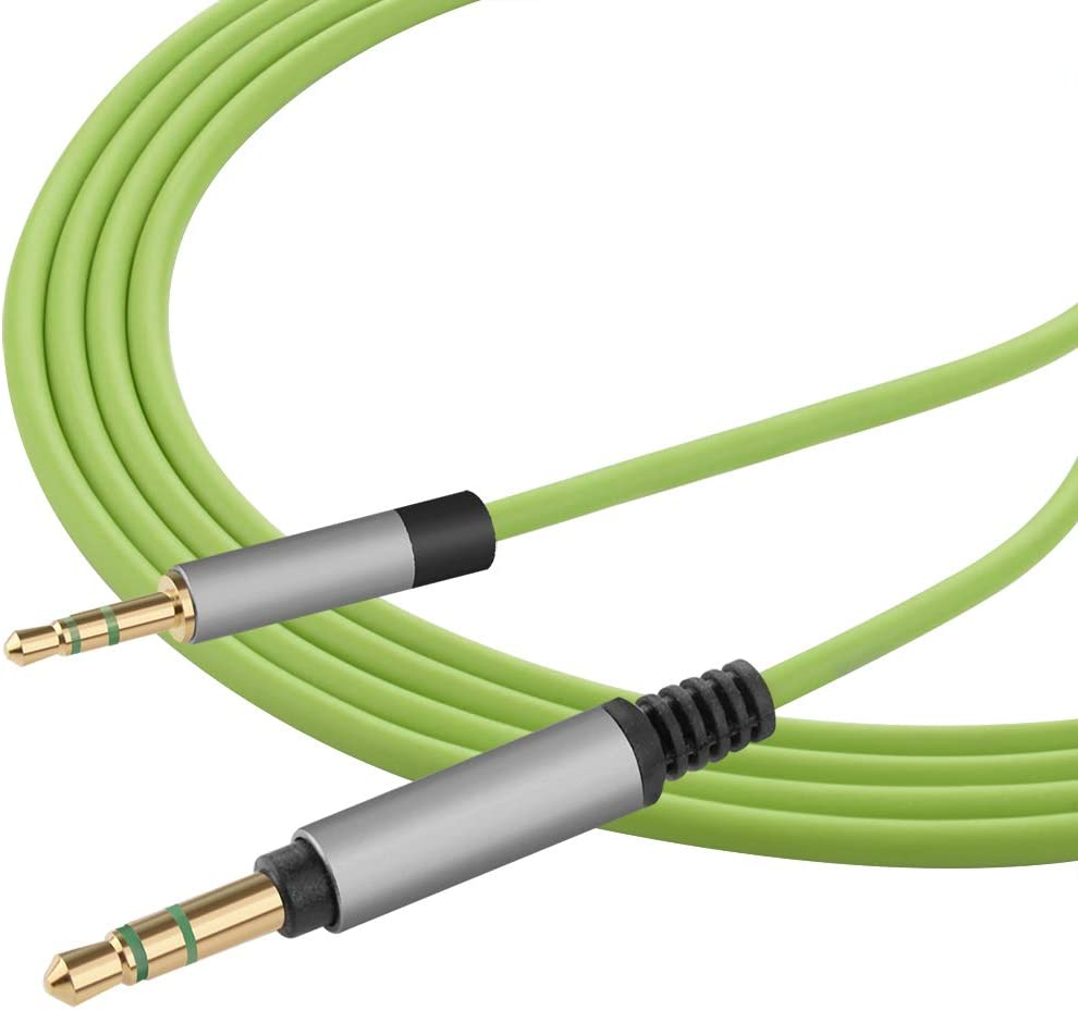 Y500 Headphones Geekria QuickFit Replacement Audio Cable for AKG Y40 Green 5.5FT 2.5mm Male to 3.5mm Male AUX Stereo Headphone Cord Y50