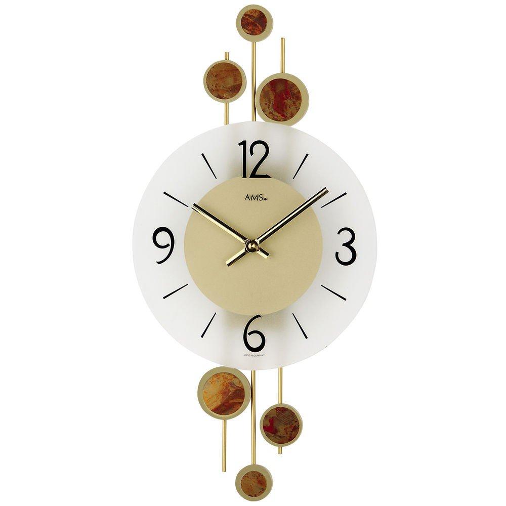 AMSからクオーツムーブメントを備えた現代的な壁時計 B00C25YWU0