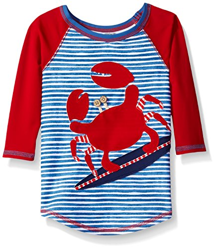 Mud Pie Toddler Boys' Rash Guard, Crab, 4T/5T