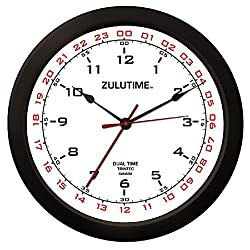 Trintec 14 12 & 24 Hour Military Time Swl Zulu Time 24hr White Wall Clock - Dial ZT14-2
