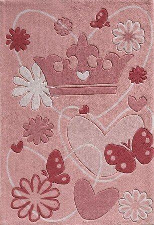 Kinderteppich rosa  Kinderteppich Disney Prinzessin Krone pink rosa 168x115cm: Amazon ...