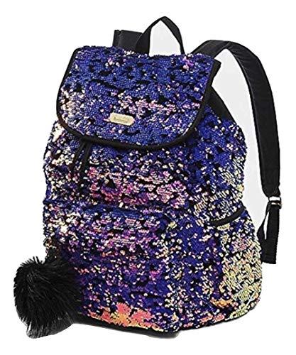 Justice Girls Purple Velvet & Reversible Sequin Rucksack Backpack from Justice