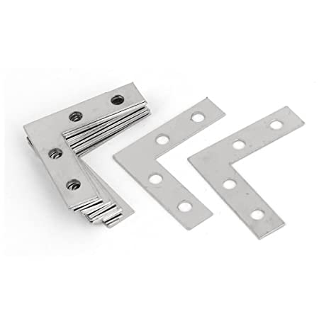 Uxcell a16062900ux0404 L Shape Repair Plate 38Mm x 38Mm Angle Brackets Corner Braces Flat L Shape Repair Plates 12Pcs <span at amazon