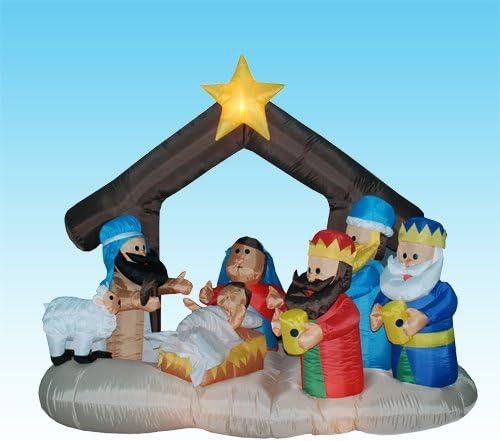 LB International Inflatable Nativity Scene