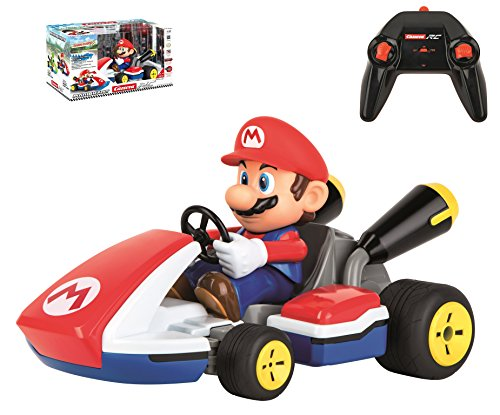 Carrera RC 162107 Official Licensed Mario Race Kart 1: 16 Scale 2.4 Ghz Splash Proof Remote Control Car Vehicle with Sound & Realistic Body Tilting Action - Rechargeable Battery - -