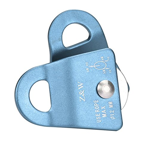 Nacome 20KN Rock Climbing Climb Mobile Side Pulley Single Micro Prusik Minding Pulley (Blue) -