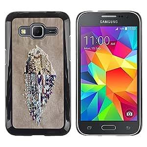 Paccase / SLIM PC / Aliminium Casa Carcasa Funda Case Cover - Monster Rock Retro Radio Huge - Samsung Galaxy Core Prime SM-G360