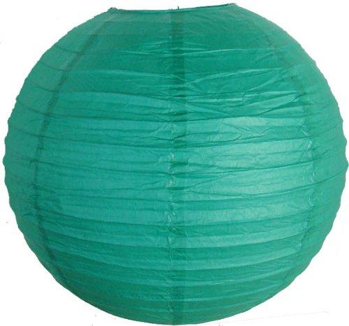 Just-Artifacts-18-Teal-Blue-Green-ChineseJapanese-Paper-LanternLamp-18-Diameter-Just-Artifacts-Brand