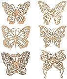 "Arts & Crafts : Bo Bunny Butterfly Laser-Cut Chipboard, 3.5 x 9"""