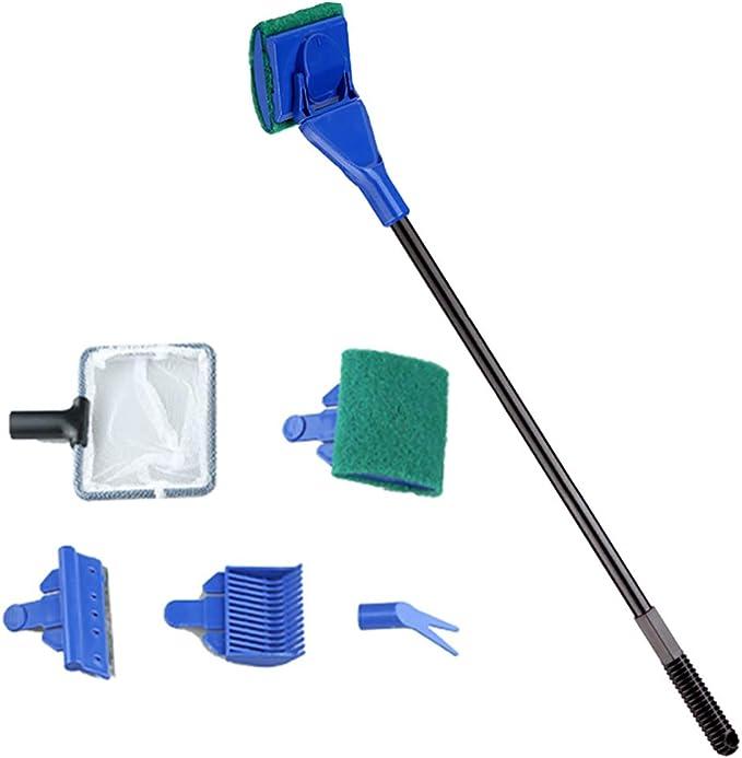 Carefree Fish Mini Algae Scrapers/Super Magnetic/Brush,Small Fish Tank Glass Cleaner Aquarium Cleaning Tool