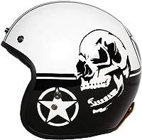 casque moto tête de mort vintage 2