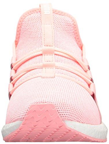 Puma Womens Mega Nrgy Knit Wn Sneaker Zacht Fluo Peach-puma Wit