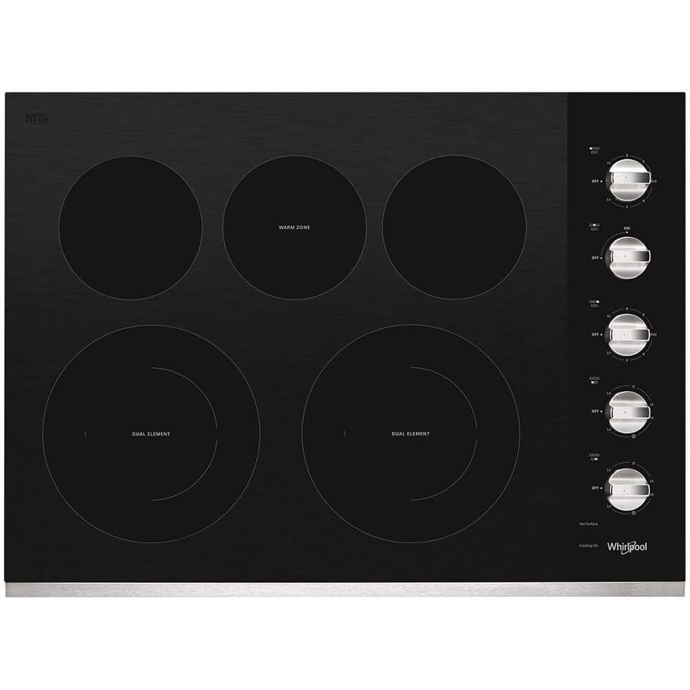 Whirlpool WCE77US0HS 30 Stainless 5 Burner Electric Cooktop