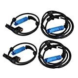Hlyjoon 34526752682 34526752683 4 Pcs Front Rear ABS Wheel Speed Sensor Automotive Vehicle ABS Wheel Speed Transducer Wiring Harness Speed Detector for 325Ci 325i 330Ci 330i M3