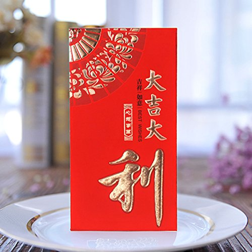 Red Envelope Gift - ZFKJERS Pack-30 Chinese Red Envelopes - Lucky Money Gift Envelopes Red Packet for New Year, Birthday, Wedding (6.5 x 3.4 in)