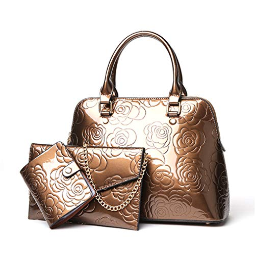 3 Women Sets Messenger Bag Leather Bags Composite Gold Gold rPrqZ