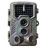 """HD 1080P 12MP Game and Trail camera for Deer Hunting , No Glow Infrared Scouting Camera Night Vision max to 82ft with 46pcs LEDs , 2.4"""" LCD Screen and Waterproof IP66"""