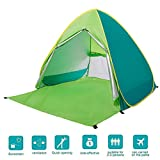 BATTOP Automatic Pop Up Beach Tent Sun Shelter Cabana 2-3 Person UV Protection Beach Shade for Outdoor Activities (Green)