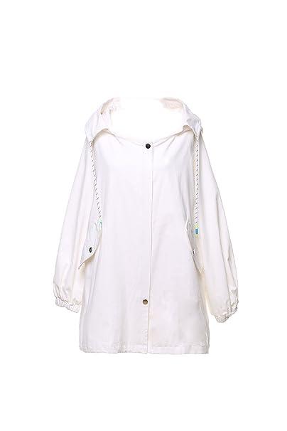 Large X Abrigo es para blanco mujer impermeable Amazon Zilcremo w7YqxdXOd