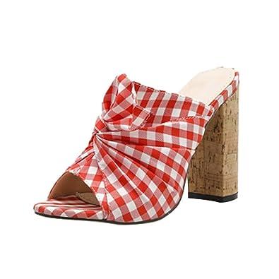 Claystyle Moda Estilo Sudadera de Tela de subred de Estilo Rural de Verano de con Tacones