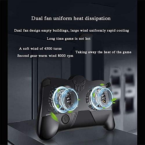 XHMCDZ 冷却ファンのゲームが付いている移動式コントローラーは4.5-6.7インチのSmartphoneのためのジョイスティックのゲームパッドのグリップを、子供およびプレーヤーのために完成させます