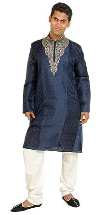 Amazon.com: Apparelsonline Men's Silk Kurta Suit: Clothing