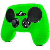 ParticleGrip STUDDED Skin for Steam Controller by Foamy Lizard ® Sweat Free 100% Silicone Skin Cover w/Raised Anti-slip Studs (SKIN, GREEN)