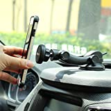 IKOPO Magnetic Car Cellphone Mount Holder,Suitable for iPhone Mini Samsung Galaxy LG Nexus & More Smartphones(Black)