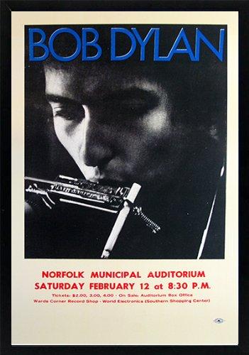 Bob Dylan Concert Poster - Bob Dylan Concert Poster Framed 20x14