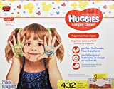Image of HUGGIES SIMPLY CLEAN Fragrance-Free Baby Wipes, Hypoallergenic (6X Refill Packs, 432 Count)