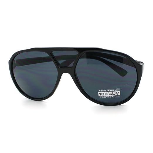 0bde32b1906f0 All Black Racer Aviator Sunglasses Retro Tear Drop Frame Third Bridge Lens