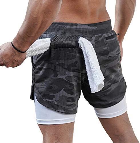 ショートパンツ メンズ スポーツウェア ジム トレーニングウェア レイヤード 吸汗速乾 伸縮性抜群 筋トレ ポケット付